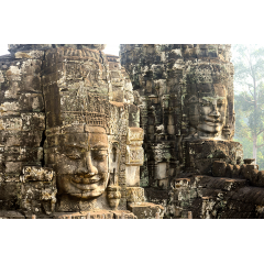 Two Banyon Temple Faces