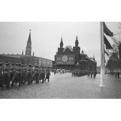 Marching in Front of the Kremlin