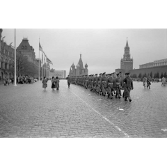 Marching in Red Square